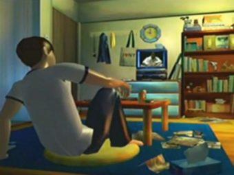 テレビ見る